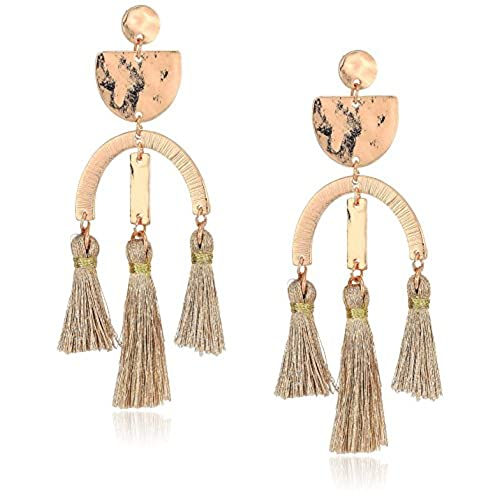 nice Panacea Womens Rose Gold Tassel Earrings, Rose, One Size supplies
