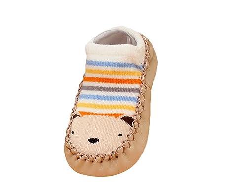 Moolecole calcetines de niño con diseño para niños de par de calcetines antideslizantes a prueba de