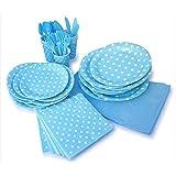 LolliZ Party Pack For 8, Blue & Polka Dots Design