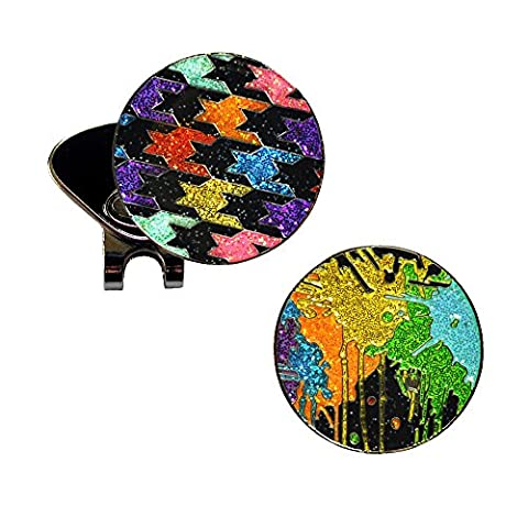 Loudmouth Paintball and Black Razzle Dazzle Glitzy Ball Marker Combo with ONE Magnetic Hat Clip (Razzle Dazzle Glitter)