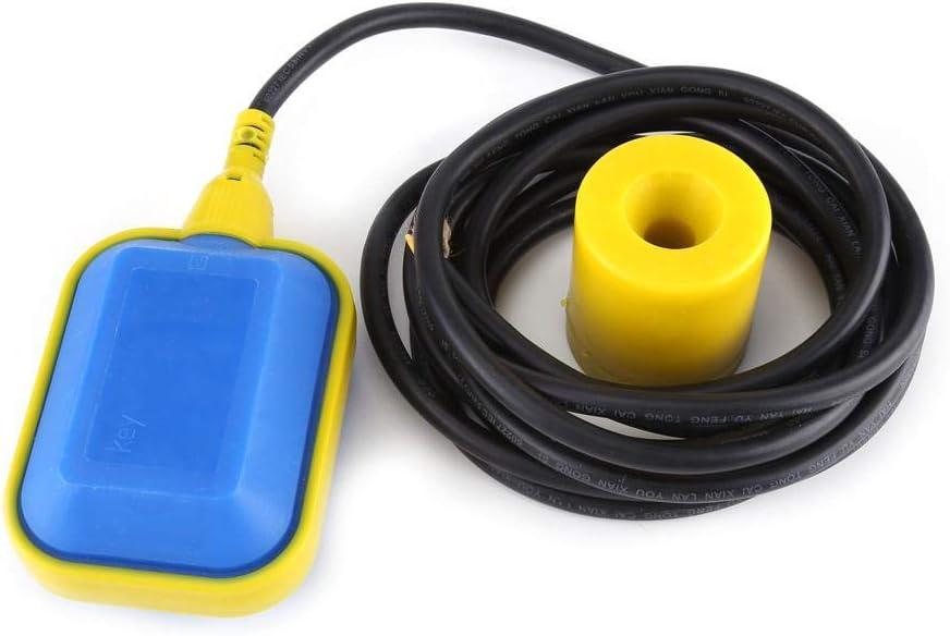 1 St/ück 4 m Kabeltyp-Schwimmerschalter-1 St/ück Kabeltyp-Schwimmerschaltersensor f/ür Fl/üssigkeits-Fl/üssigkeits-Regler