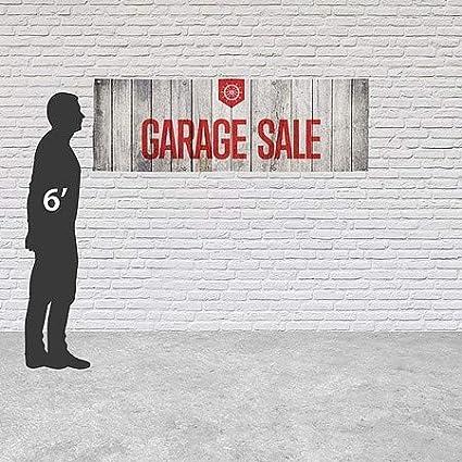 Garage Sale Nautical Wood Heavy-Duty Outdoor Vinyl Banner 12x4 CGSignLab