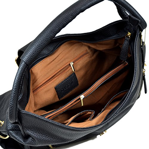 DASEIN Purse Flap Designer Bag for Bag Top Woman Buckled Grey Womens Fashion Handle Handbag 1 Shoulder Hobo rwx6qrPv