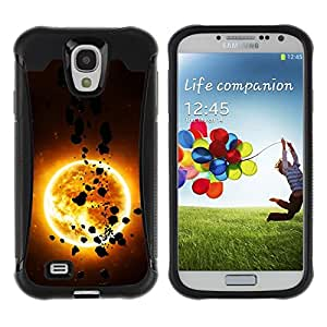 Suave TPU Caso Carcasa de Caucho Funda para Samsung Galaxy S4 I9500 / The Sun & Asteroids / STRONG