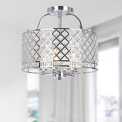 Jojospring Evelyn Crystal Ceiling Flush-mount Chandelier