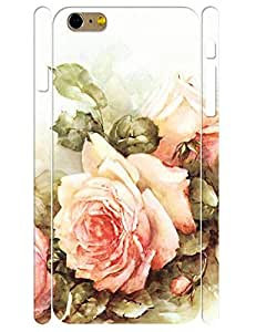 3D Print Pretty Roses Bloom Pattern Flower Design High Impact Phone Hard Case for Iphone 6 Plus 5.5 Inch