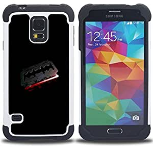 - Goth Dark Razor Blade & Blood - - Doble capa caja de la armadura Defender FOR Samsung Galaxy S5 I9600 G9009 G9008V RetroCandy
