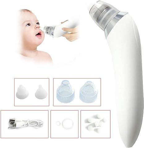 Aspirador Nasal Bebé Eléctrica, Aspirador Nariz de Carga USB Dispositivo Eléctrico de Succión Nasal para Bebés, Lechón de Espinilla Adulto White: Amazon.es: Bebé