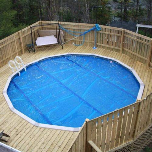 (Ngeamsuwanshop 18' Round Swimming Pool Solar Blanket Cover- 8 Mil)