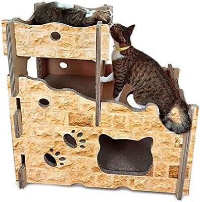 LiShihuan Castillo de Gato, rascador para Gatos, Tabla de Papel ...
