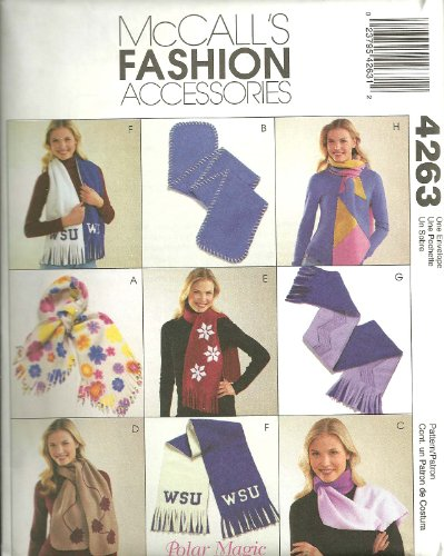 Fleece Scarves McCall's Fashion Accessories Sewing Pattern (Mccalls Fashion Accessories)