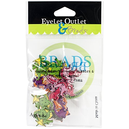 EYELET OUTLET QBRD2-220A Dragon Shape Brads (12 Pack)