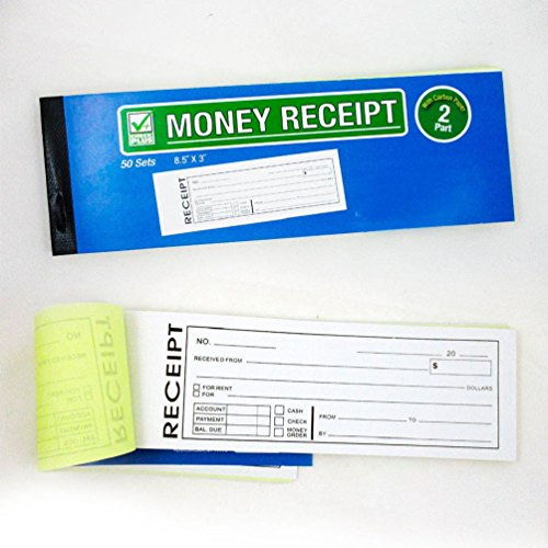 1 Cash Money Rent Receipt Record Book 2 Part 50 Sets Duplicate Copy Carbon New Two Receipt