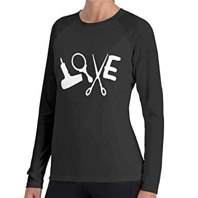 Amazon Hairstylist Love 0 Long Sleeved T Shirt Crew Neck 100