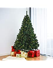Home Treats Artificial Pre Lit Christmas Tree's 6FT & 7FT Xmas Tree With Bushy Branches