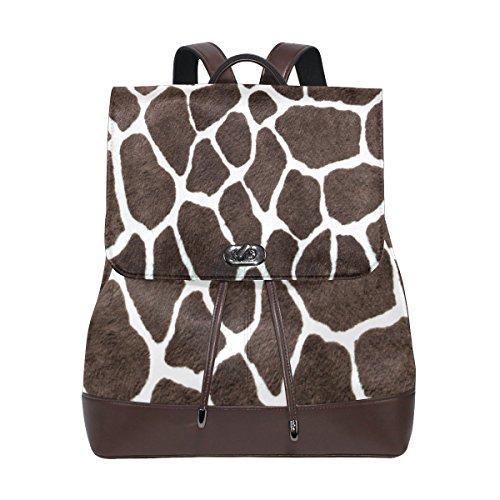 (KUWT Animal Leopard Print PU Leather Backpack Photo Custom Shoulder Bag School College Book Bag Rucksack Casual Daypacks Diaper Bag for Women and Girl)