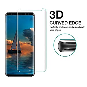 Samsung S9 Screen Protector,Samsung Galaxy S9 Glass Screen Protector,Vegkey 3D Ultra Clear Full Coverage Tempered Film Screen Protector for Samsung Galaxy S9 from Vegkey