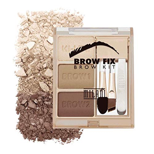 Milani Brow Fix Kit – Vegan, Cruelty-Free Eyebrow Color that Fills and Shapes Brows (Light)