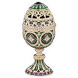 Design Toscano The Emerald Collection Romanov Style Enameled Egg: Minishka