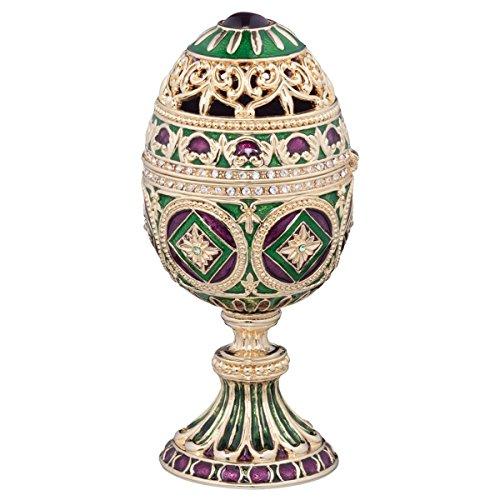 Treasure Box Enameled (Design Toscano The Emerald Collection Faberge-Style Enameled Minishka Egg)
