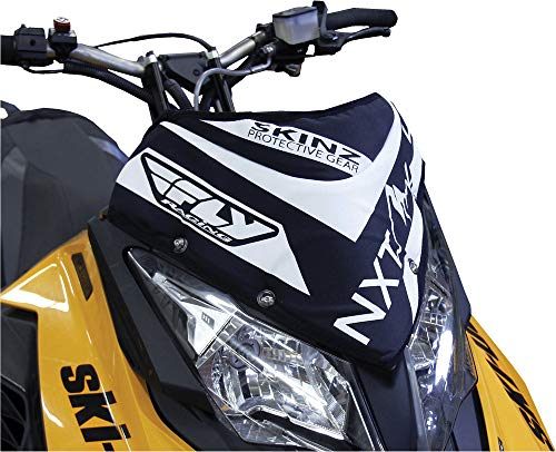 Skinz Protective Gear NXT LVL Windshield Pack - Black/White NXSWP400-BK/WHT