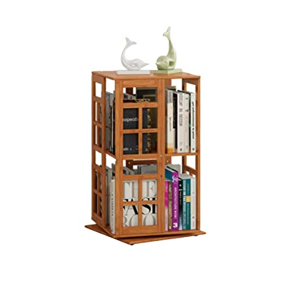 Sólida Suelo Estante Madera BbookshelfGabinete Kele Rotativo Bambú m8wvn0NO