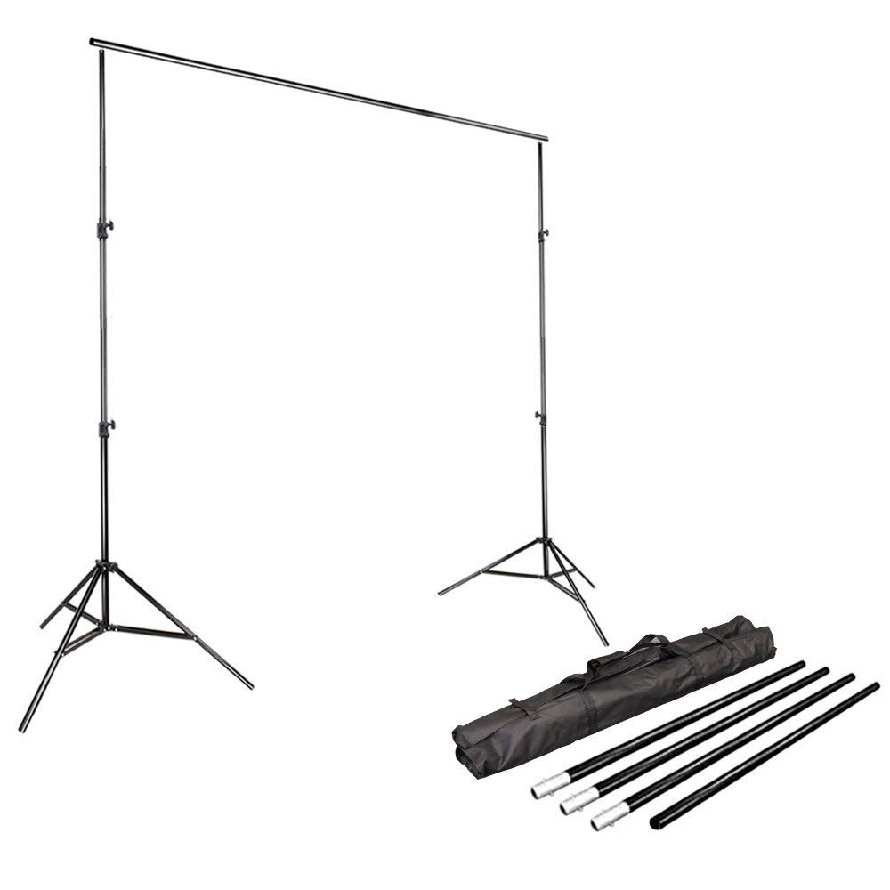 LimoStudio Photo Video Studio 10Ft Adjustable Muslin Background Backdrop Support System Stand, AGG1112 by LimoStudio