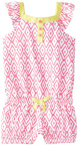 The Children's Place Baby Girls' Ikat Knit Romper
