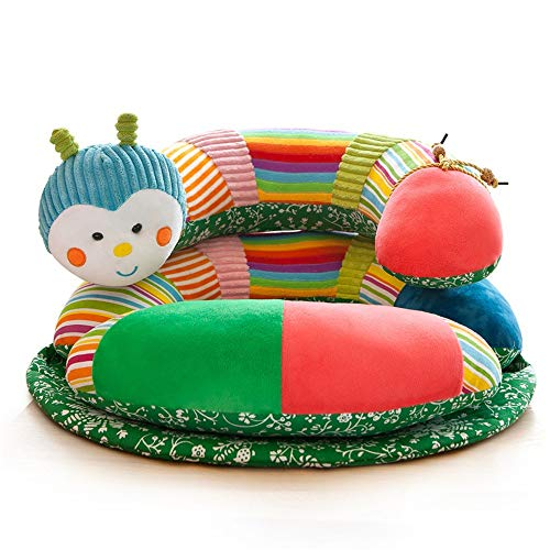 Learning To Sit On The Sofa Infant Baby Support Seat Learn Sit Sofa Chair Baby Couch Bed Removeable Colorful Animal Detachable and Repositionable Toys Kids Pillow Plush Toys Gift 55x55cm Baby Seat