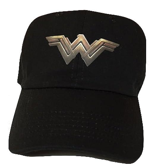bc808682c5447a Wonder Woman Black Adjustable Strapback Cap Hat at Amazon Men's ...