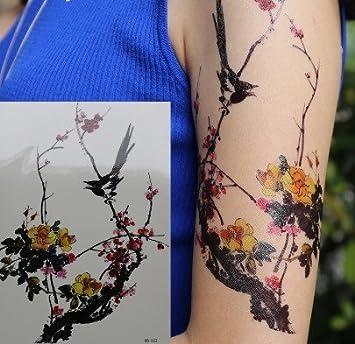 Tatouage Temporaire Fleurs D Hiver Chinois Tatouages Temporaires