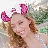 YanJie Crown Mouse Ear Headband Hot Pink Bow Girl