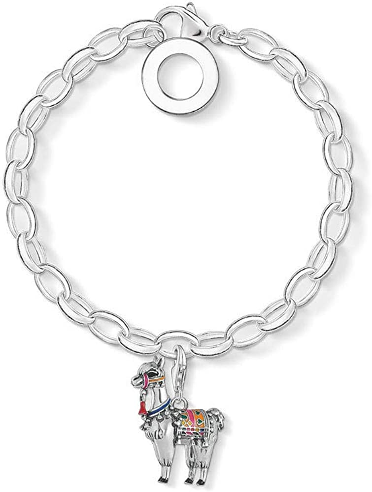 Nobrand Alpaca Llama Charm Bracelet Thomas Jewelry 925 Sterling Silver Gift para Mujeres 2020 Summer TS Lucky Link Chain Jewelry 20cm