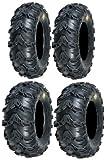 Full set of Sedona Mud Rebel 25x8-12 and 25x11-10 ATV Tires (4)