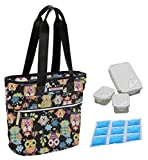 Lily Bloom Oversize Insulated Lunch Cooler/Tote with Pack-n-Go Containers (What a Hoot Black)