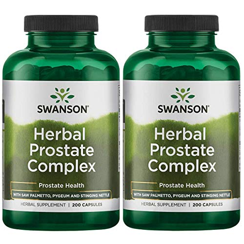 Swanson Herbal Prostate Complex Urinary Tract Support Men's Health Supplement 200 Capsules (Caps) (2 Pack)