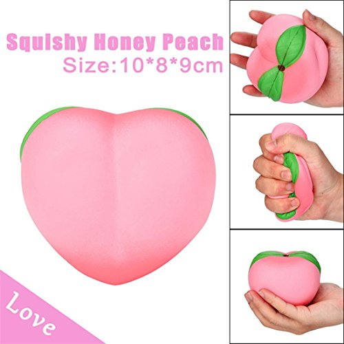 Peach Mop (HANYI Stress Relief Toys For Kids With Adhd, Squeeze-Therapy-Sensory-Squishy-Educational (Pink Peach))