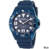 Haurex Italy Men's 1K374UB2 Ink Blue Rubber Band Aluminum Dial Watch