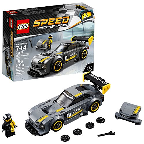 LEGO Speed Champions 6175226 Mercedes-Amg Gt3 75877 Building Kit (196 Piece), Multi ()