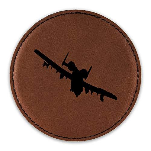 A-10 Thunderbolt II Drink Coaster Leatherette Round Coasters Warthog Hog CAS USAF A10 - Rawhide - One ()