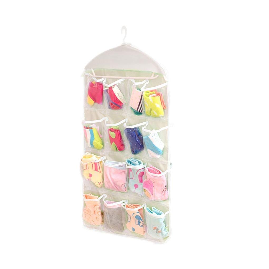 Topker 16 poches transparent sac /à suspendre chaussettes soutien-gorge sous-v/êtements organisateur de rangement cintre beige