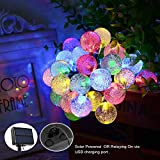 Arichomy Outdoor Solar String Lights,30 Bulbs 20ft LED String Lights Home Decoration Light,8 Mode Waterproof Solar Patio Lights Decorative for Xmas Tree Garden Lawn Wedding Party Holiday