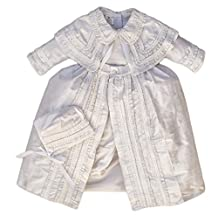 Heirloom Baby Boy Christening Gown, Hand Made outfit Burbvus B003