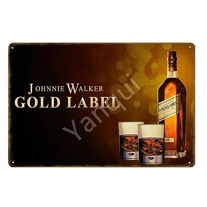 ShAwng SIGA Caminando Johnnie Walker Whisky Cerveza Metal ...