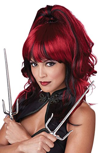 [Mememall Fashion Sexy Ninja Sugar and Spice Costume Wig (Red/Black)] (Red Coat Army Costume)
