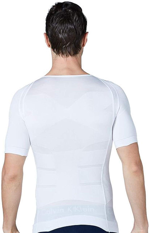 STTLZMC Faja Camiseta Hombre Deportiva Adelgazante Reductora Compresion El/ástica de Ropa Interior
