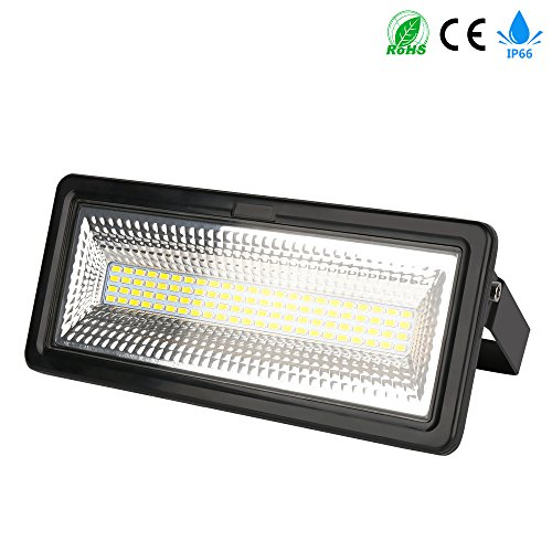 50W LED Flood Light, 3000K, IP66 Waterproof Super Bright Outdoor Work Light, Security Floodlights for Garage, Garden, Hotel, Lawn and Yard ()