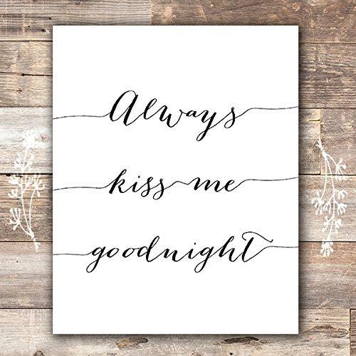 Always Kiss Me Goodnight Art Print - Unframed - 8x10 (Kiss Arts)