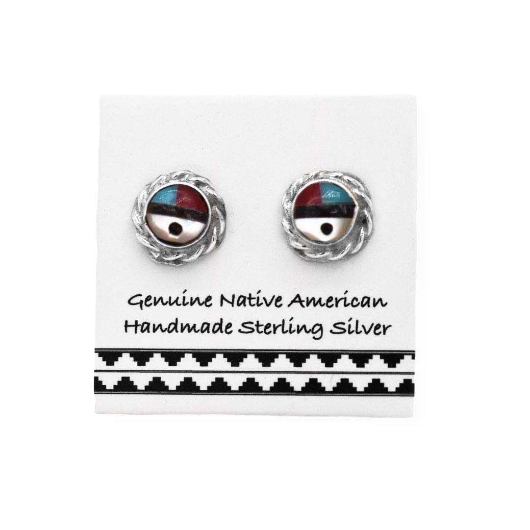 Stud Earrings Sterling Silver Native American Earrings Turquoise Earrings Boho Earrings
