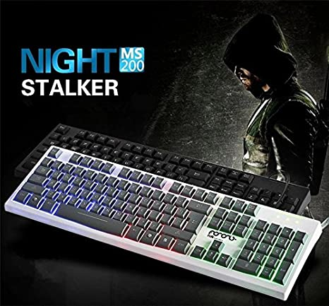 MS-200 new light emitting waterproof USB keyboard with Seven color backlight